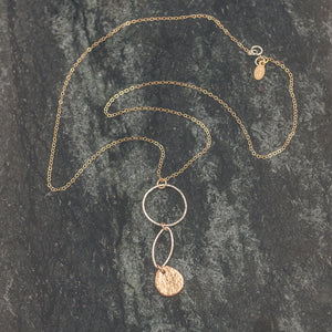 Abigail - Silver and Gold Necklace