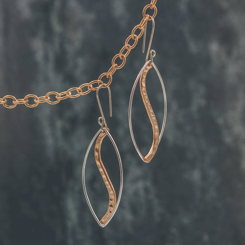 Abigail - Mixed Metal Earrings