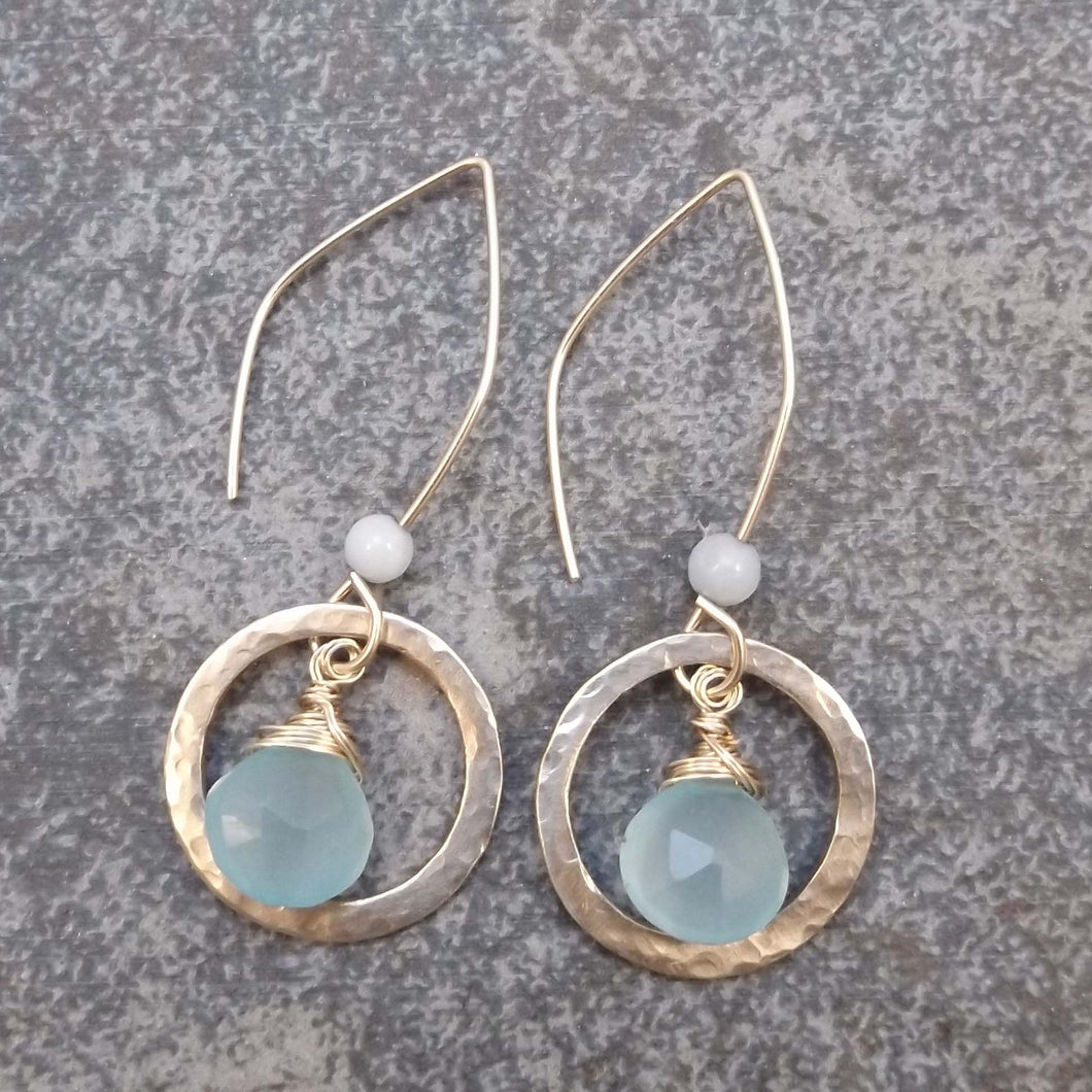 Brynn - Hoop and Gemstone Earrings