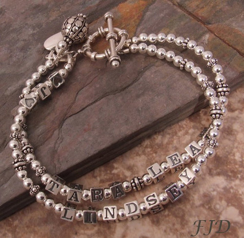 Sterling Silver Mother's Name Bracelet