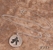 Load image into Gallery viewer, Fine Silver and Sterling Silver Initial Necklace