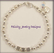 Load image into Gallery viewer, Sterling Silver Initial Bracelet