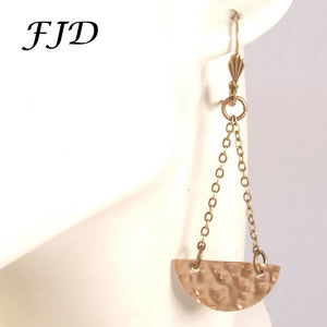 Demi Lune - Handmade Bronze Half Circle Earrings