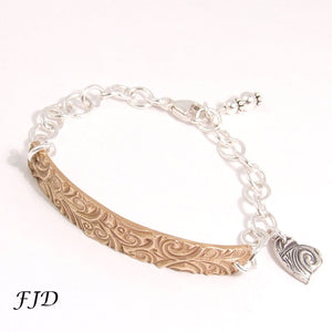 Sterling Silver and Bronze Bracelet