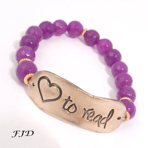 Message  Word Bracelet - Love to Read