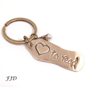 Message Word Key Chain - Love to Read