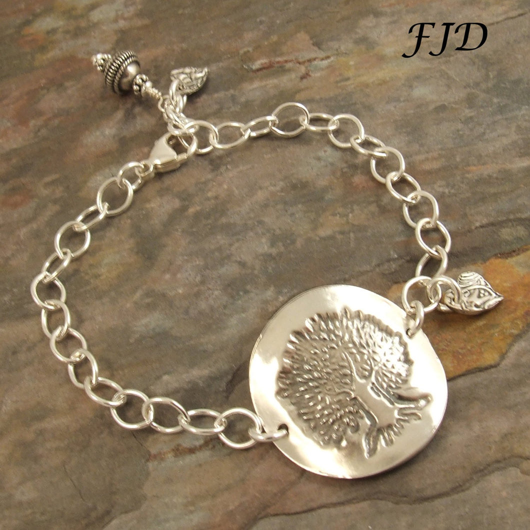 Tree of Life - Sterling Silver and Fine Silver Bracelet