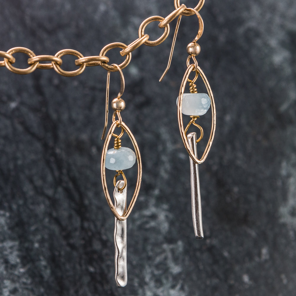 Azure - Gold and Silver Earrings