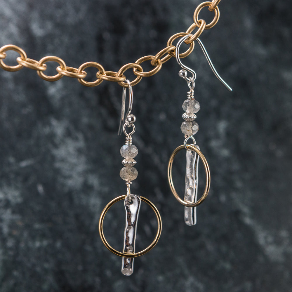 Annie - Silver and Gold Earrings