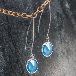 Rivoli - Swarovski and Silver Earrings