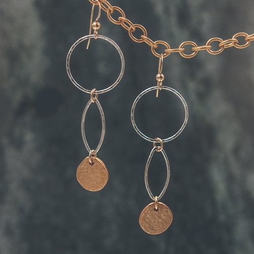 Abigail - Hoop and Marquise Earrings