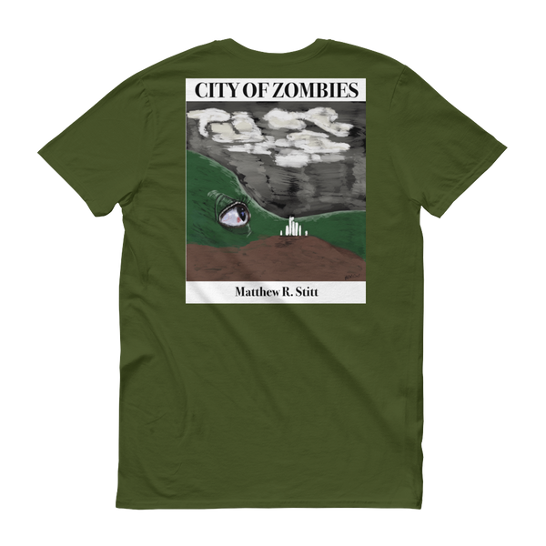 City of zombie - Book ad - Short sleeve t-shirt