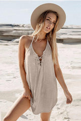 Heather Lace-Up Mini Dress