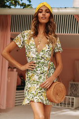 Flint Botanic Wrap Dress