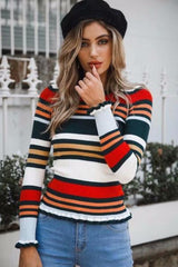 Norma Ribbed Stripe Sweater