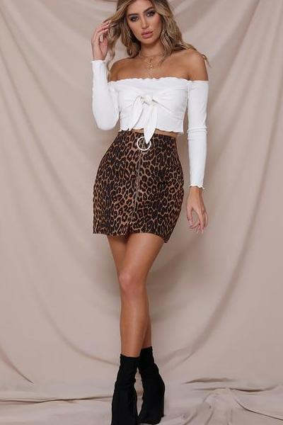 These Days Leopard Mini Skirt