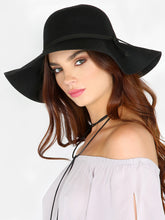 Load image into Gallery viewer, Wool Wide Brim Floppy Hat, Hat, Floppy Hat, lovepeaceboho