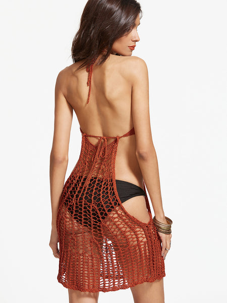 Rust Crochet Cover Up