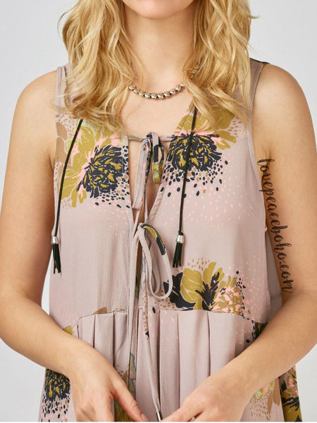Floral Celebration Tunic Top