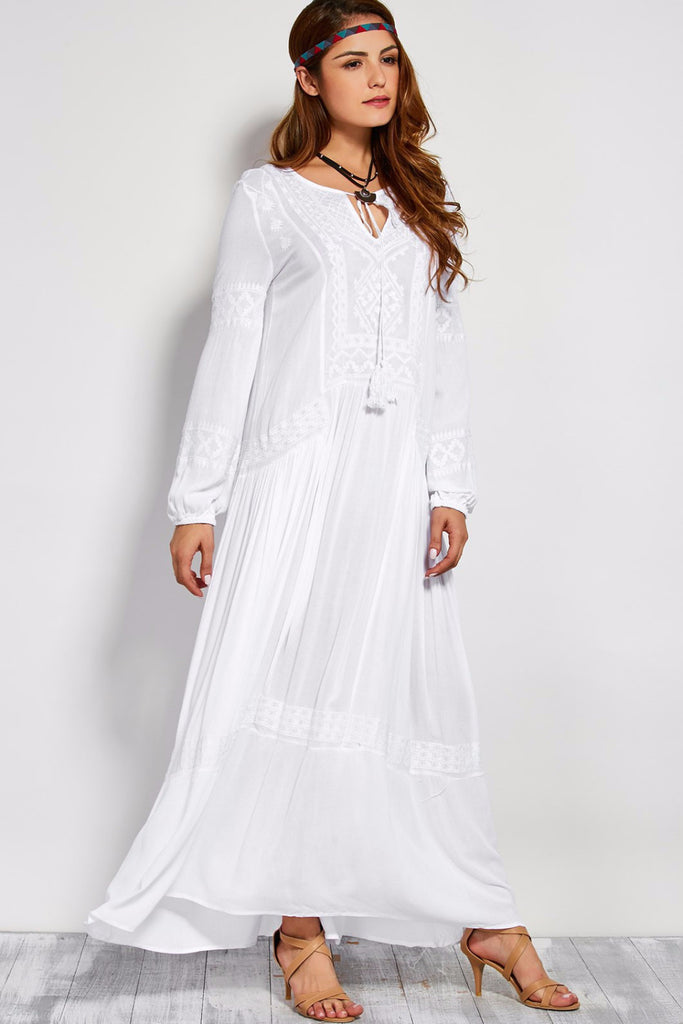 6b1c88d95d4 Vienna Cotton Peasant Dress – lovepeaceboho