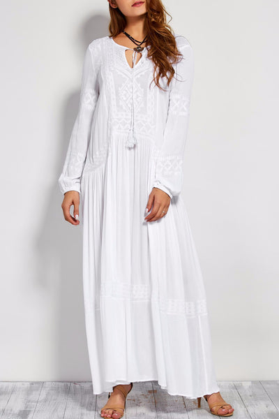Vienna Cotton Peasant Dress