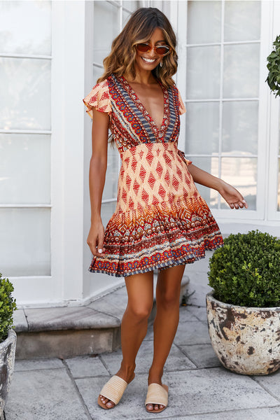 Alannah Boho Mini Dress