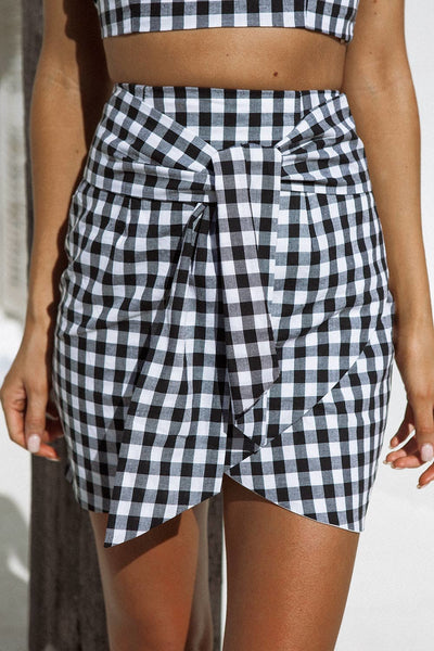 Desi Two-Piece Gingham Dress