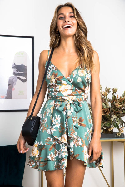 Monina Floral Mini Dress