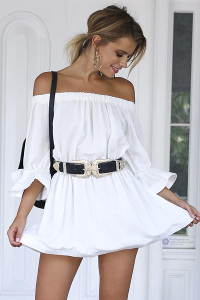 Diana Off Shoulder Mini Dress