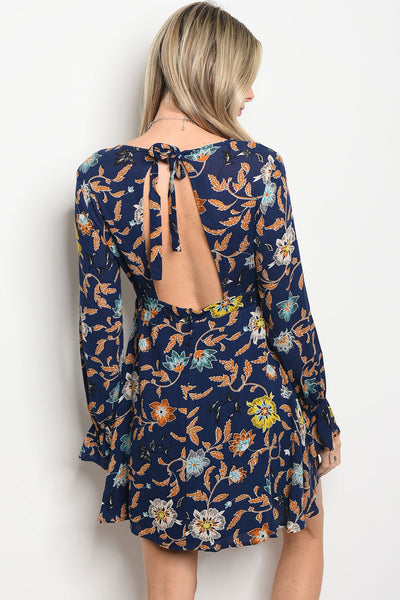 [FINAL SALE] Xylia Navy Floral Dress