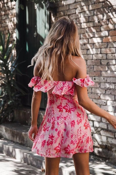 Monica Ruffled Mini Dress