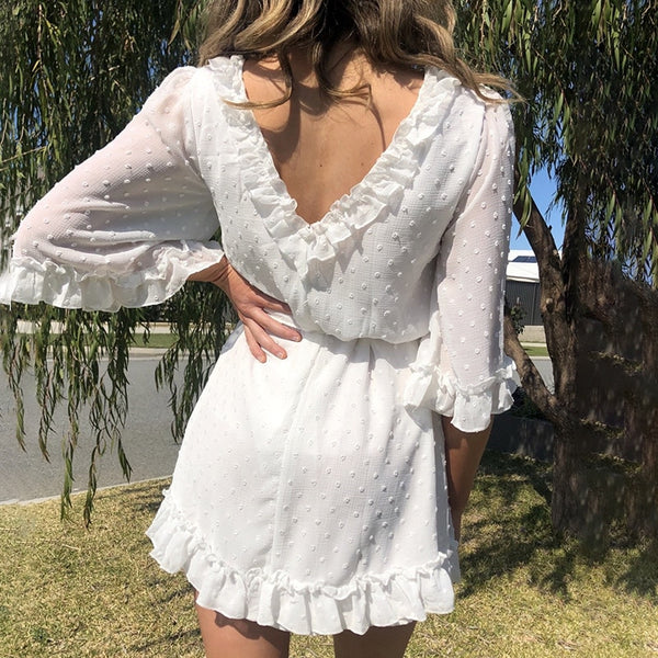 Samantha Frilled Mini Dress