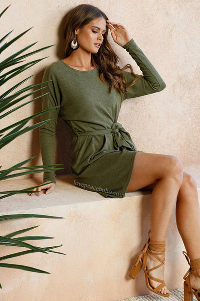 Cherie Marled Knit Dress