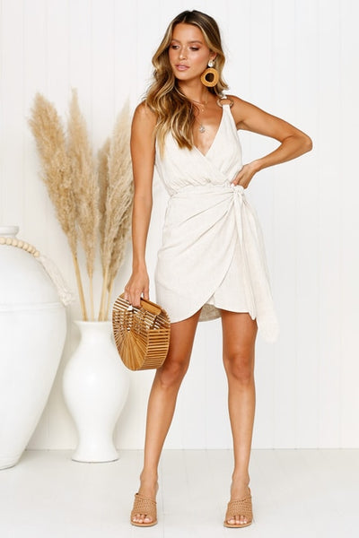 Grande Wrap Mini Dress