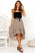 Load image into Gallery viewer, Leona Asymmetrical High Waist  Skirt