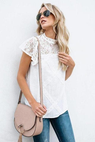 Adella Lace Yolk Top