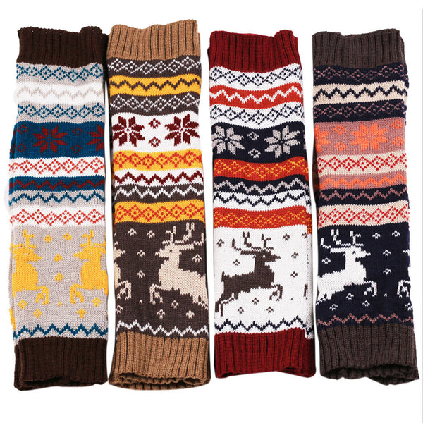 Christmas Deer Leg Warmers
