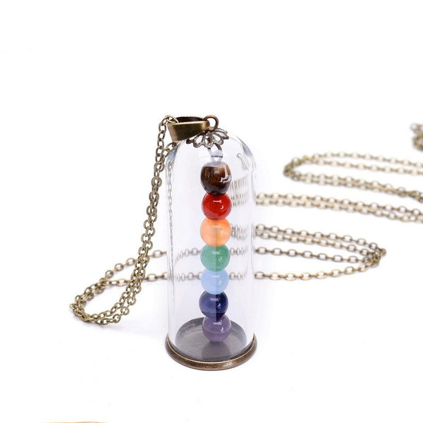Chakra 7 Colors Beads Floating Necklace