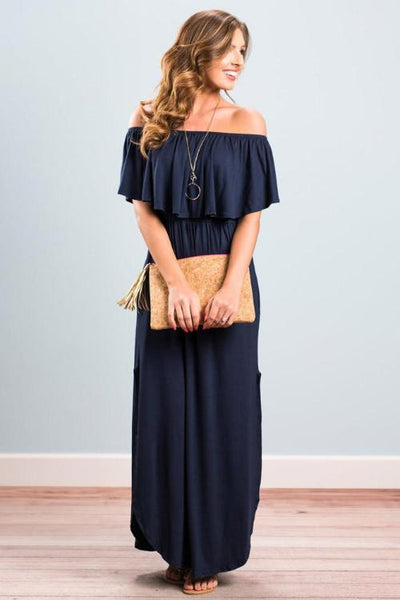 Olivia Flounce Maxi Dress
