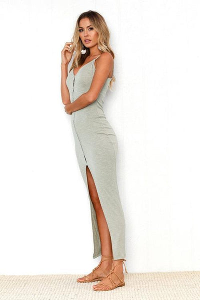 Verona Button-Up Maxi Dress
