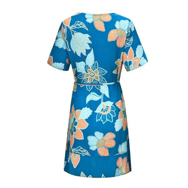 Aloha Wrap Mini Dress