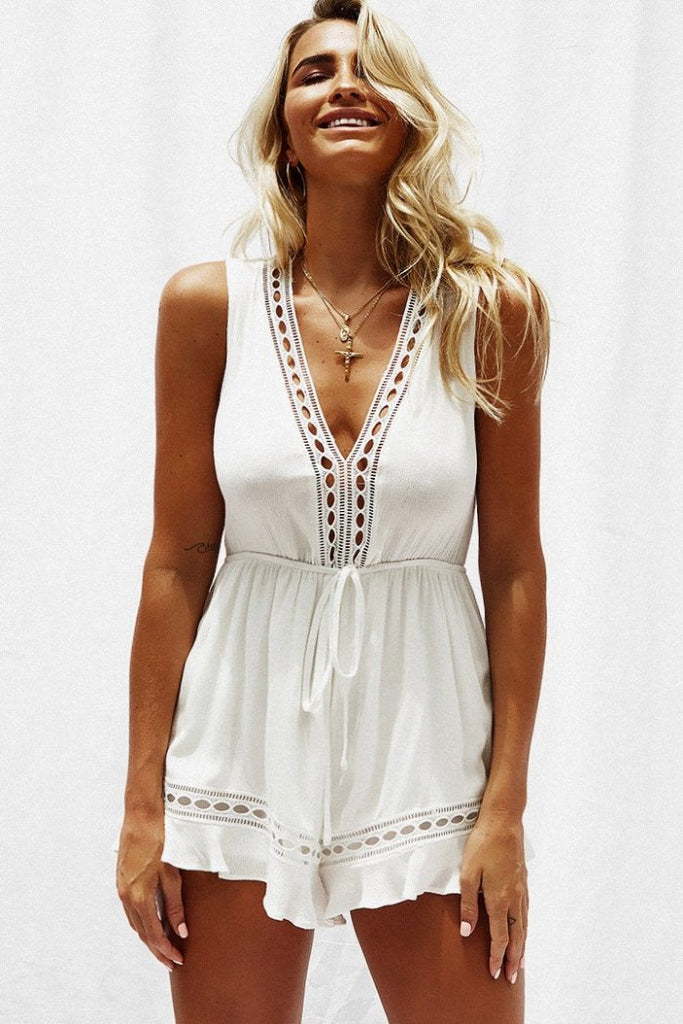 Stars Aligned White Playsuit