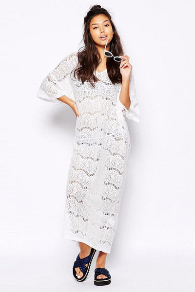 Valerie Hollow Lace Kaftan