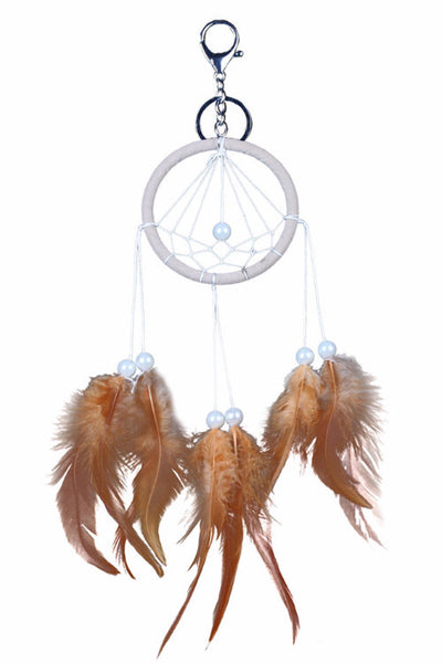 Coffee Dream Catcher Keychain, Dream Catcher, Key Chain, lovepeaceboho