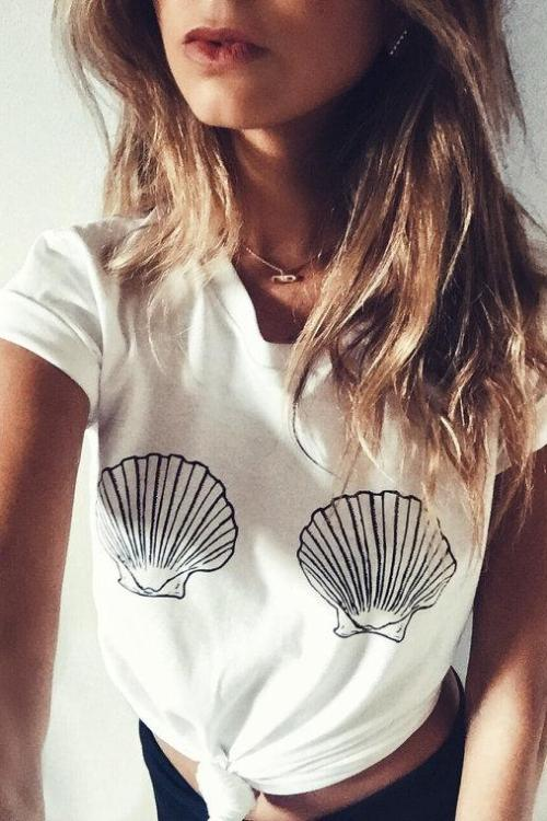 Harlow Seashell Tee Shirt