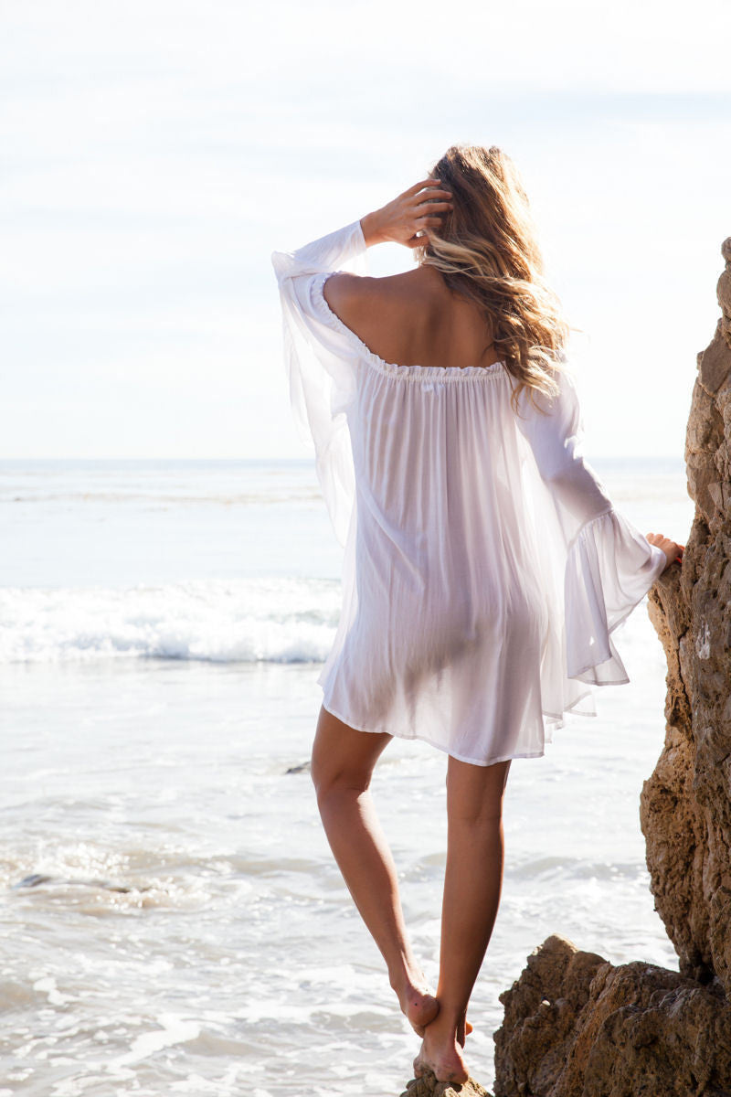 Boho Mini Beach Dress