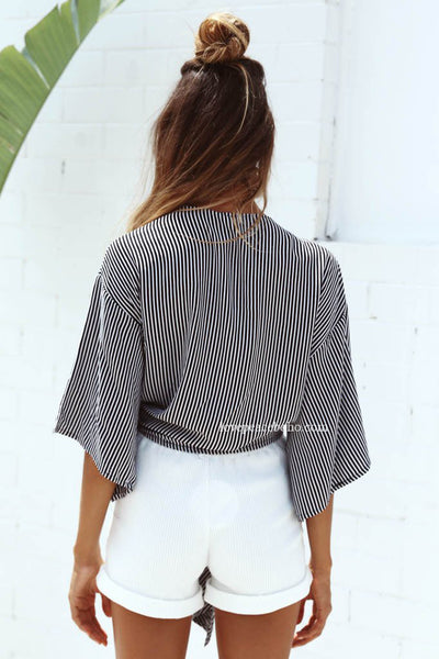 Jackie  Self-Tie Bow Top
