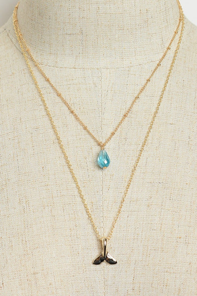 [FINAL SALE] Double Drop Fin Necklace