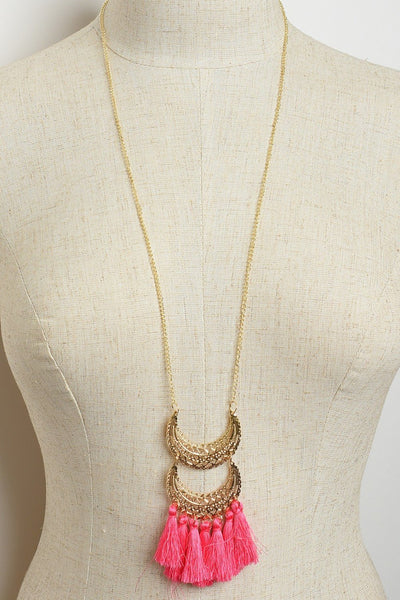 Tassels Long Chain Necklace