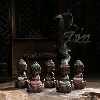 Lotus Little Buddha Incense Burner, Incense Burner, lovepeaceboho